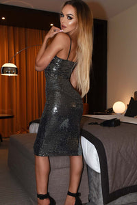 Sequin Bodycon Dress-Dresses-Secret Closet