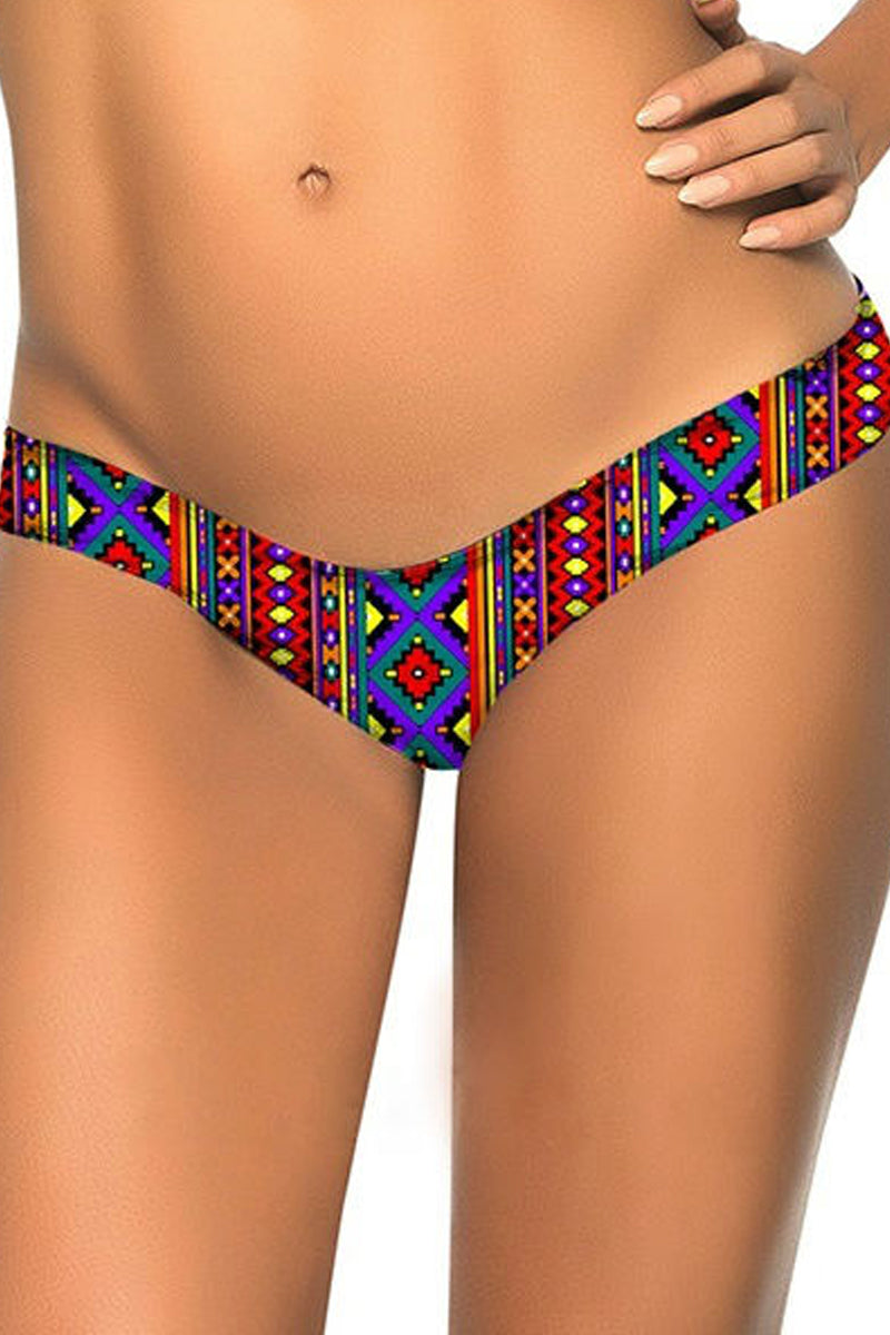 Color Block Low Waist Swimwear Panty/String-Swimwear-Secret Closet