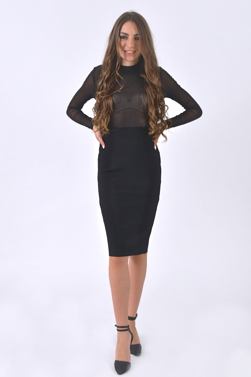 Long Sleeves Bandage Dress-Dresses-Secret Closet