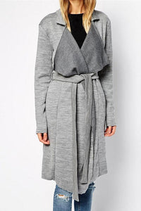 Winter Casual Knitted Coat/Cardigan With Belt-Coat Cardigan-Secret Closet