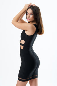 Cut Out Detail Bandage Dress-Dresses-Secret Closet