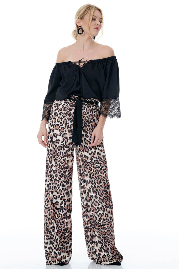 Leopard Print Trousers-Pants-Secret Closet