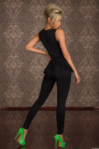 Lace Splicing Long Jumpsuits-Jumpsuits-Secret Closet