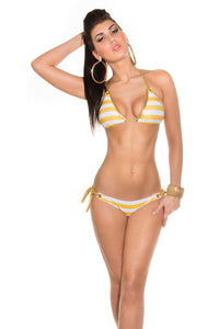 Stripe Triangle Bikini-Bikini-Secret Closet