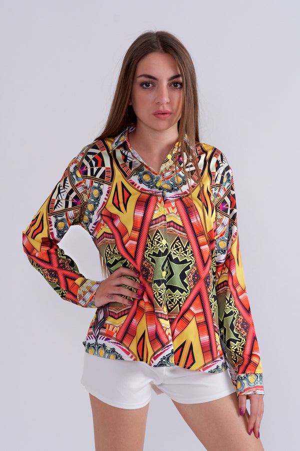 Bright Multicolour Shirt-Shirts-Secret Closet