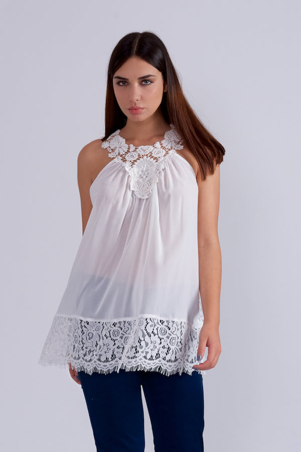 Chic Blouse By Elisa Landri-Tops-Secret Closet