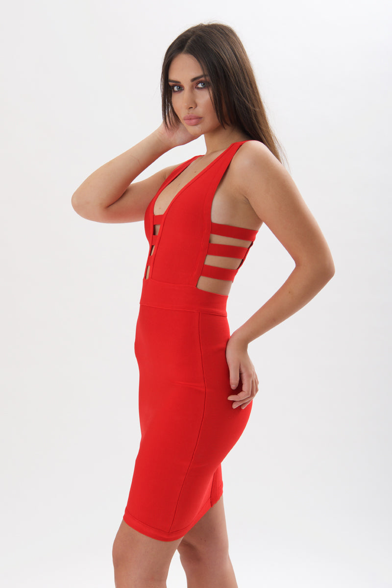 Elegant and Glam Strappy Bandage Dress-Dresses-Secret Closet
