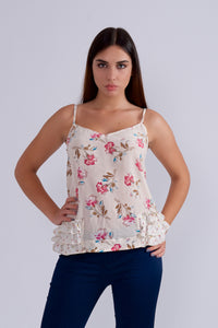 Silk Floral Top By Mauro Grifoni-Tops-Secret Closet