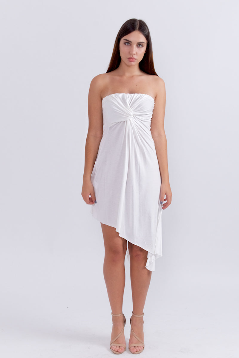 Asymmetric Strapless Dress By Oro Pagoda-Dress-Secret Closet