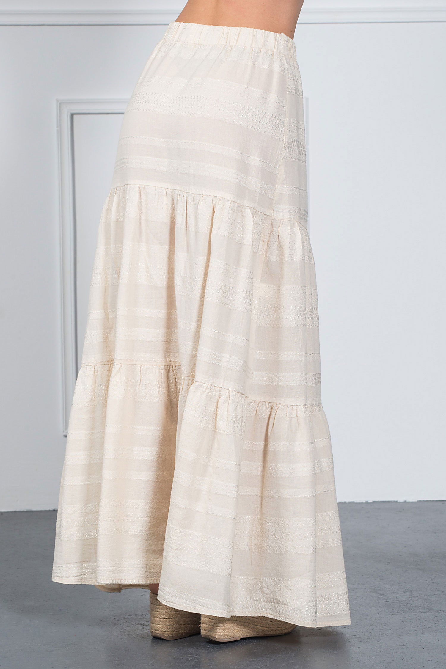 Tiered Maxi Skirt-Skirts-Secret Closet
