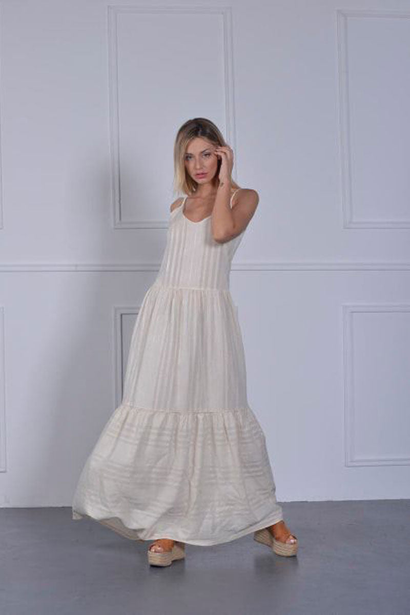 Tiered Maxi Dress-Dress-Secret Closet