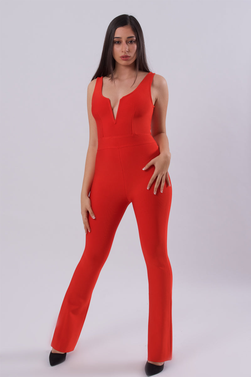 Sexy Bodycon Jumpsuit-Jumpsuits-Secret Closet