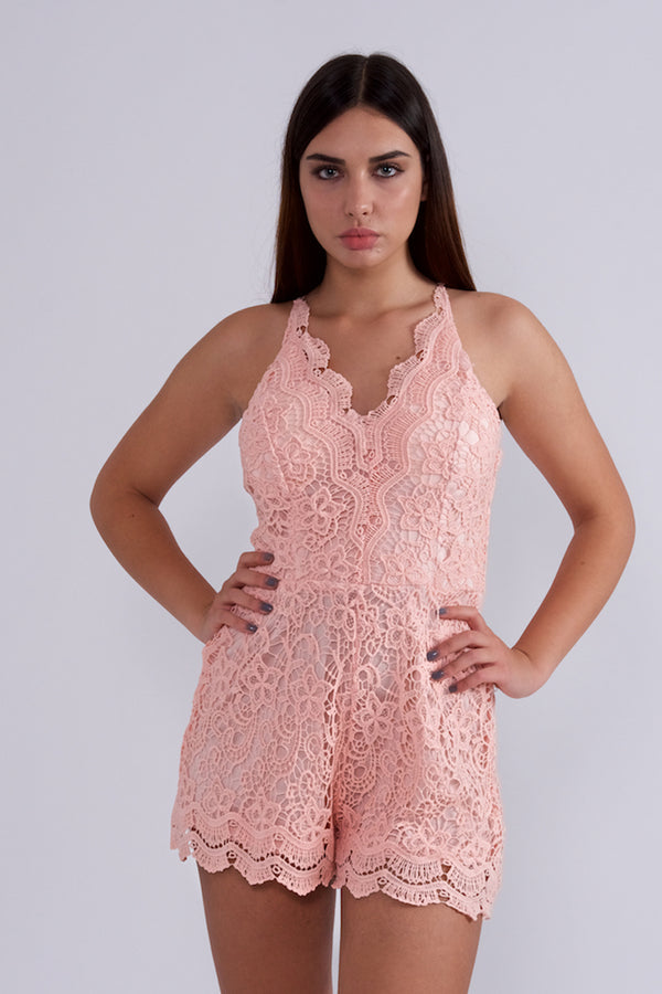 Lace Romper-Jumpsuits-Secret Closet