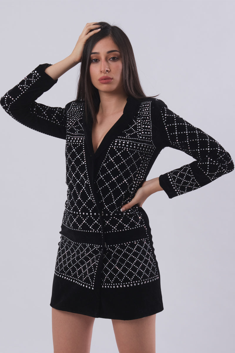17804659b6d8 Studded Blazer Dress – Secret Closet