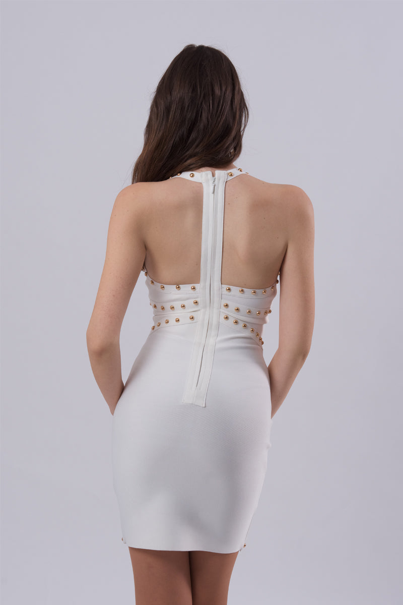 Studded T Back Dress-Dresses-Secret Closet