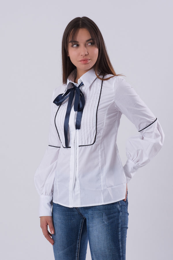 Formal Lantern Sleeve Shirt-Tops-Secret Closet