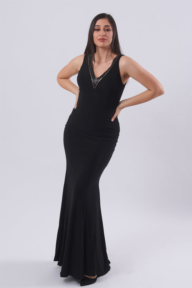 Evening Maxi Dress-Dresses-Secret Closet