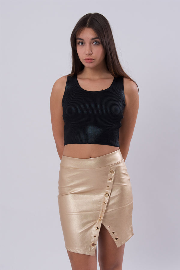 Mini Faux Leather Skirt-Skirts-Secret Closet