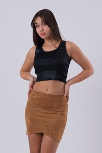 Mini Faux Suede Skirt-Skirts-Secret Closet