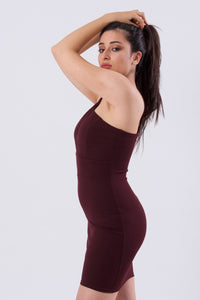 Cross Chest Bodycon Dress-Dresses-Secret Closet