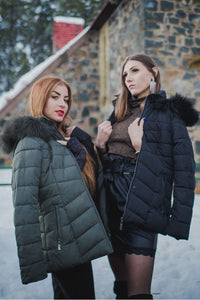 Zip Up Puffer Jacket-Coats-Secret Closet