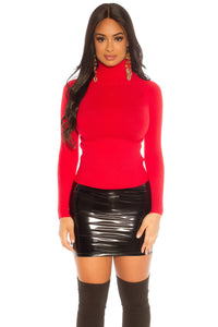 Latex Mini Skirt-Skirt-Secret Closet
