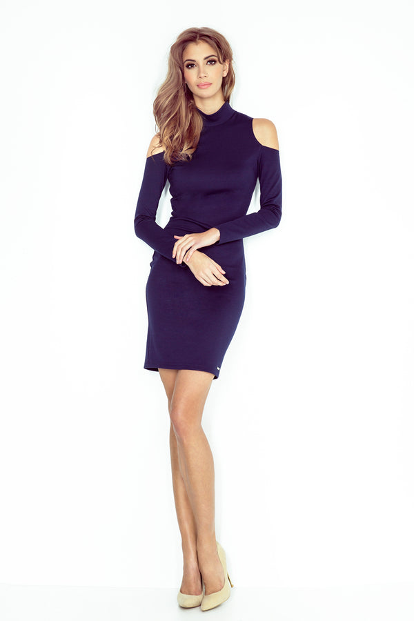 Cut Out Shoulders Dress-Dresses-Secret Closet