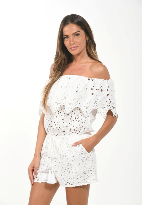 Bohemian Broderie Anglaise Romper