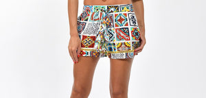 Colorful Print Shorts-Pants-Secret Closet