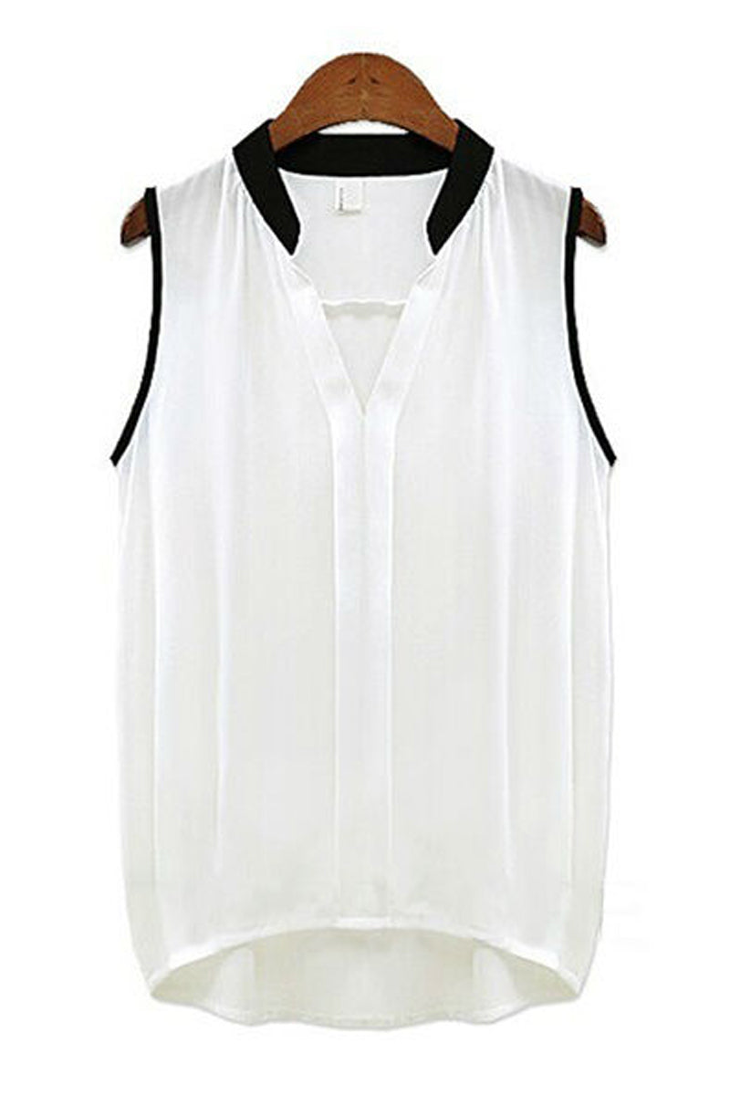 Sleeveless Shirt-Tops-Secret Closet