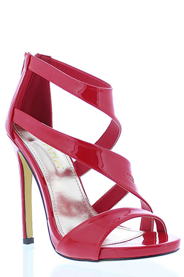 Open Toe High Heel Sandals-Shoes-Secret Closet