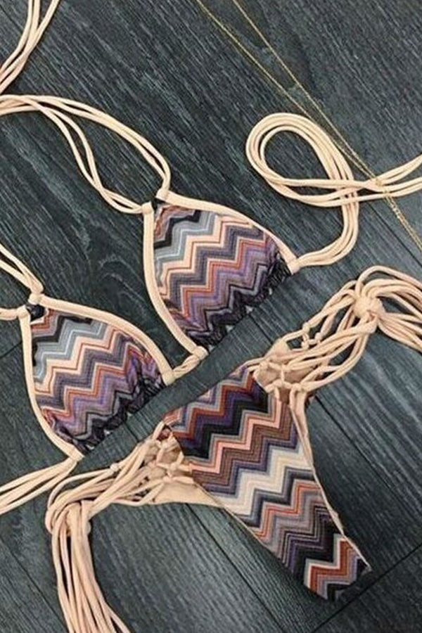 Sexy Hollow Tassel Bikini-Bikini-Secret Closet