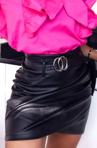 Mini Faux Leather Skirt-Skirt-Secret Closet