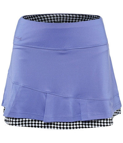 Bolle Black Magic Asymmetrical Overlay Pleat Skort