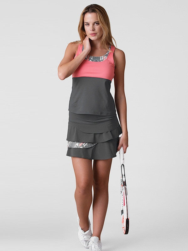 Bolle Ladies Tennis - Women's Serpentine Layer Tennis Skirt - mytennisstore.com