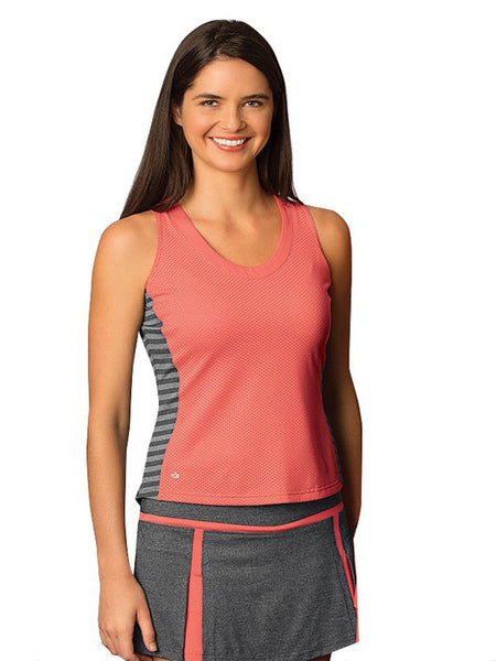 Bolle Ladies Tennis - Women's Bellini Back Pleat Tennis Tank - mytennisstore.com