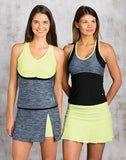 Bolle ~ Shades of Grey Rouched Tank