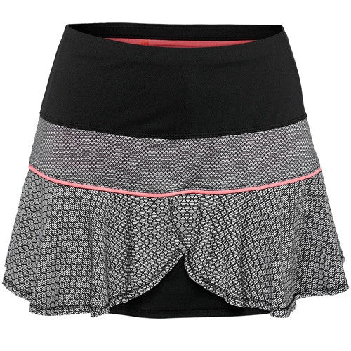 Lucky in Love Off the Grid Off Barcode Flounce Skirt