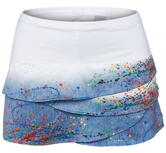 Lucky in Love Painter Scallop Print Skirtt - mytennisstore.com