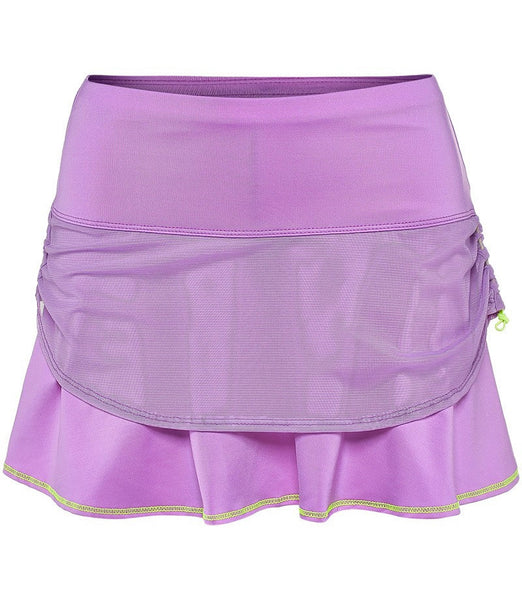 Lucky in Love Kick-Start Mesh Rouched Tennis Skirt - mytennisstore.com