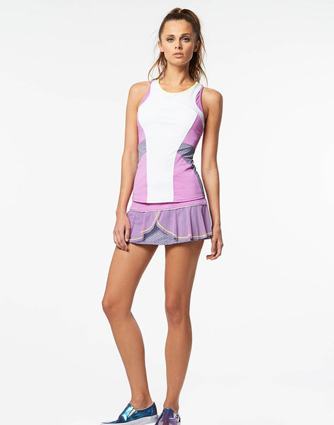 Lucky in Love Tennis Kick-Start Hybrid Flounce Skirt- mytennisstore.com