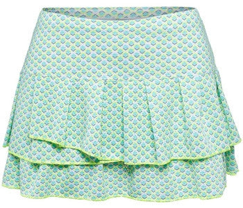 Lucky in Love Retro Wave Diamond Pleated Tier Skirt
