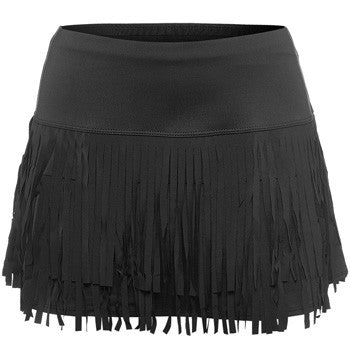 Lucky in Love ~ Fringe Skirt (Black)
