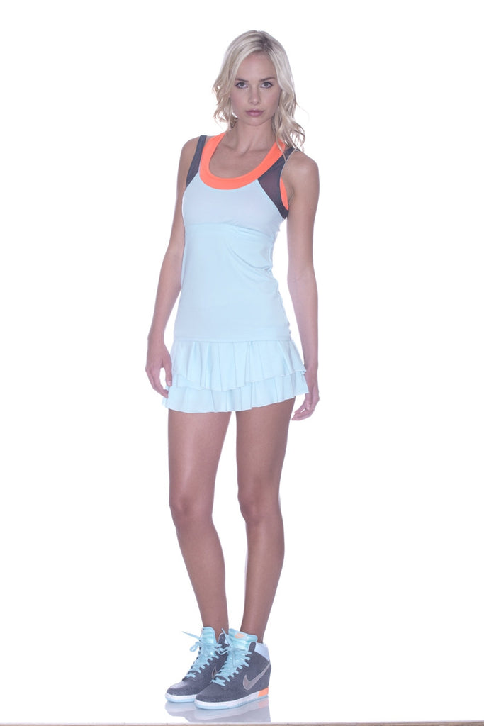 Lucky in Love Sea Breeze Pleat Tier Skort mytennisstore.com
