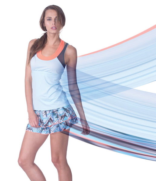 Lucky in Love Sea Breeze Skort Print Tier Skort mytennisstore.com