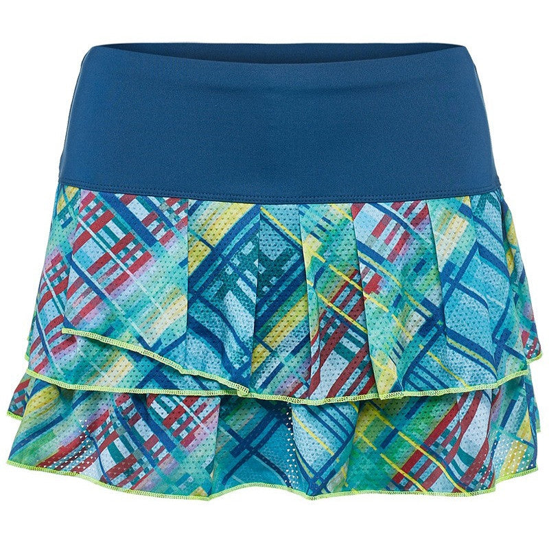Lucky in Love - Get Checked Out Pleat Tier Skirt - mytennisstore.com