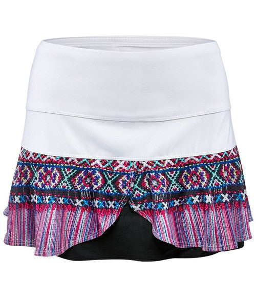 Lucky in Love Boho Beads Flounce Skirt - mytennisstore.com