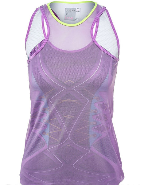 Lucky in Love Kick-Start Mesh Layer Tank - mytennisstore.com