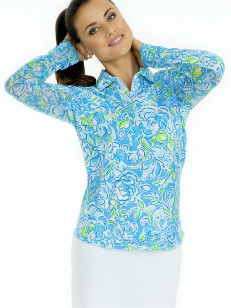 Icikuls Mock Neck Long Sleeve Cooling Sun Shirt