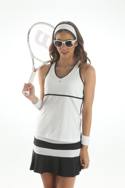 Pure Lime Op Art Tape Trim Racerback - mytennisstore.com